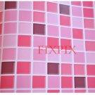 Mosaic Sticker Tile Transfer Bathroom Kitchen 50cm x 50cm Pink