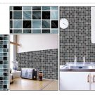Mosaic Sticker Tile Transfer Bathroom Kitchen 50cm x 50cm Black