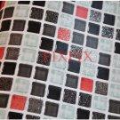 Mosaic Sticker Tile Transfer Bathroom Kitchen 50cm x 50cm Black Red
