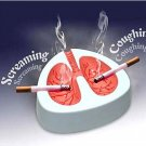 White Cough Screaming Lung Ashtray QUIT SMOKING Gag Gift