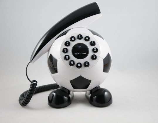 Corded RJ11 Unique Decorative Football Telephone B2