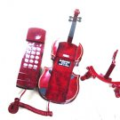 Guitar Novelty Retro Corded Telephone