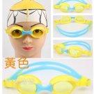 Kid Swimming Pool Slicon Swim Glasses Glass Yellow NIB G006