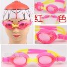 Kid Swimming Pool Slicon Swim Glasses Glass Red NIB G008