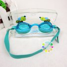 Kid Swimming Pool Bee Slicon Swim Glasses Glass NIB Blue G015