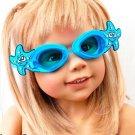 Kid Swimming Pool Seastar  Slicon Swim Glasses Glass Blue NIB G028