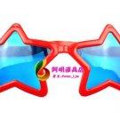 Crazy Big Specs Big Star Glasses Clown Classes Costume Theatre Prop red