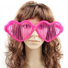 Crazy Big Specs Heart Glasses Clown Classes Costume Theatre Prop Fuschia