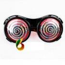 Crazy Big Specs Faint Circle Glasses Clown Classes Costume Theatre Prop Black