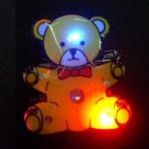 Lot of 25pcs bear Brooch Luminous Party Favor LP015