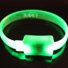 Adjustable Lot of 12pcs green Luminous bracelet bangle Party Favor LB026