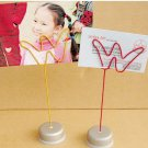 Memo & Name Holder Stand Display W Shaped PM005