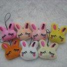30pcs Plush Rabbit Mobile Strap for cell phone wholesale promotion party favor MB007