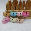 30pcs Plush Bear Mobile Strap for cell phone wholesale promotion party favor MB008