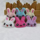 25pcs Stuffed plush rabbit Mobile Strap for cell phone wholesale promotion party favor MB011