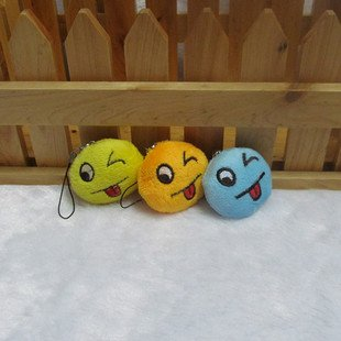 25pcs Stuffed plush smile icones Mobile Strap for cell phone wholesale promotion party favor MB018