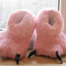 Adult Plush Monster Pola Bear Foot Paw Animal Claw Slipper pink party