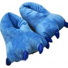 Adult Plush Monster PIG Foot Paw Animal Claw Slipper party BLUE SH007