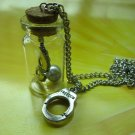 50 fifty shade of grey inspire mask handcuff Glass vial necklace Pendant bottle necklace NW540