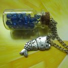 Ocean marine mermaid nautical Glass vial necklace Pendant bottle necklace NW542