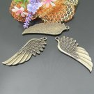 Lot of 100pcs mini Angel wing CHARM doll house miniature toy/jewelry Charm 54X22mm CM915