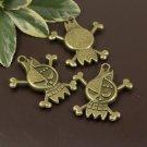Lot of 200pcs mini skull halloween dollhouse miniature toy/jewelry Charm CM834