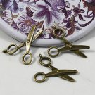 400XDollhouse scissors  /jewelry Pendant metal alloy charm 32X21mm CM1235