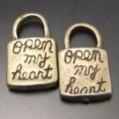 Lot of 300pcs mini Padlock open my heart dollhouse miniature toy/jewelry Charm CM992