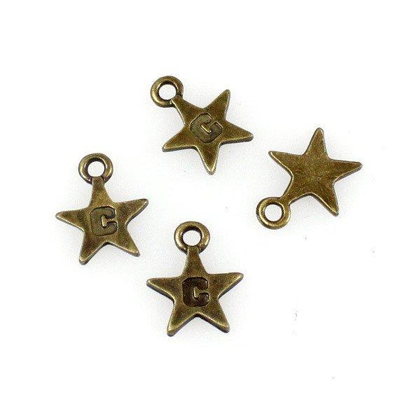 2000pcs mini Brass star dollhouse miniature toy/jewelry Charm CM725