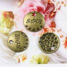 200pcs mini Brass star dollhouse miniature toy/jewelry Charm CM1133b
