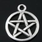 500pcs mini Brass star of david gothic jewelry Charm CM727