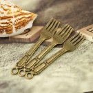 Lot of 100pcs fork charm dollhouse miniature toy/jewelry bracelet  metal alloy Charm CM1081