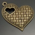 Lot of 200pcs mini brass love heart dollhouse miniature toy/jewelry Charm CM605