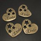 Lot of 200pcs mini brass love star heart dollhouse miniature toy/jewelry Charm CM628