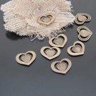 Lot of 400pcs mini brass love star heart dollhouse miniature toy/jewelry Charm CM615