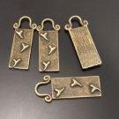 Lot of 200pcs mini brass love heart dollhouse miniature toy/jewelry Charm CM613