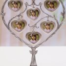 Silver Plated Family Tree picture display photo frame/home decoy Heart FM003