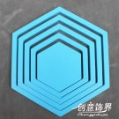 2 set 3D Solid hexagon wood Wall Stickers/Home blue Decor