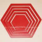 2 set 3D Solid hexagon wood Wall Stickers/Home red Decor