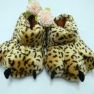 Adult Plush Monster Donkey Foot Paw Animal Claw Slipper party shoe yellow SH028