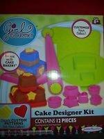 ONE New Kit Box of GIRL GOURMET 12 PC. CAKE DESIGNER KIT