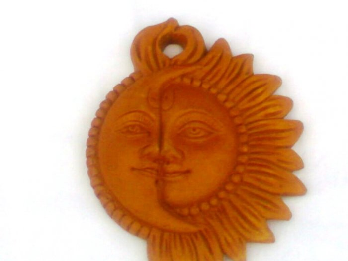 Handcrafted Wall Hanging Of Sun and Moon