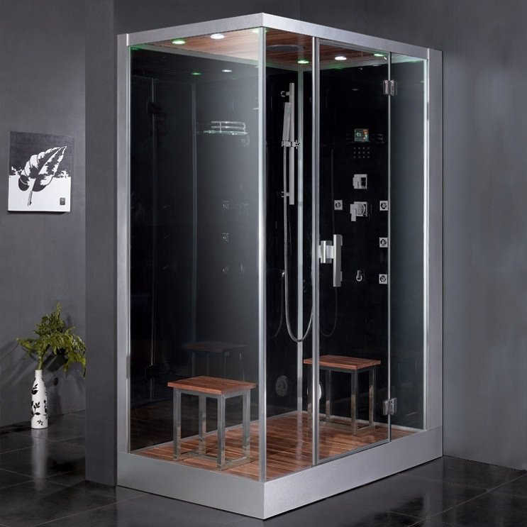 "59"" EAGO Platinum DZ961F8 Steam Shower Enclosure Unit (Right Side)"