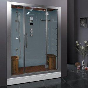 "50"" EAGO Platinum DZ972F8 Steam Shower Enclosure Unit (White)"
