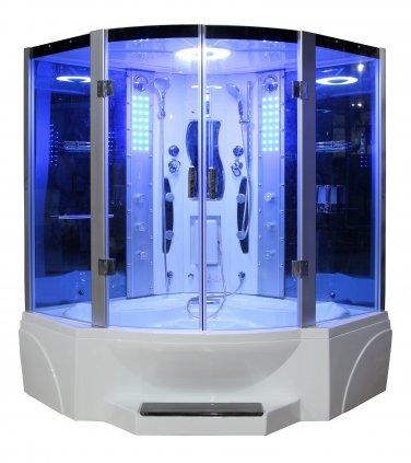 "63"" Eagle Bath WS-608P Steam Shower Sauna Enclosures w/ Whirlpool Bathtub Combo Unit"