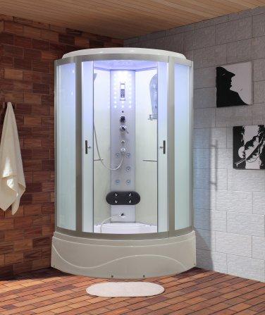 """36"""" Eagle Bath WS-902L-FG-36 Steam Shower Enclosure w/TUB (Frosted Glass)"""