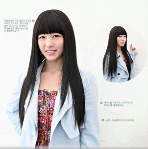 Long Straight Cosplay Everyday Full Wigs With One Cap WL01