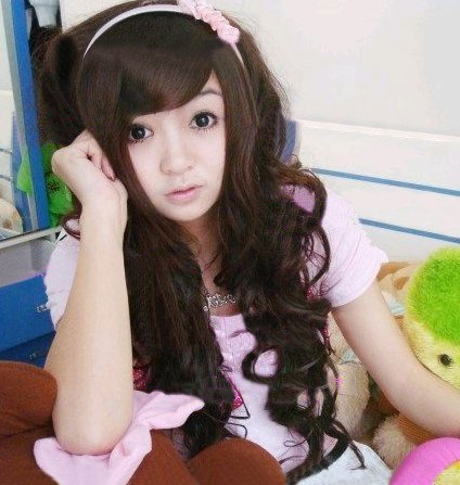 Long Curly Cosplay Everyday Full Wigs With 1Cap WL23