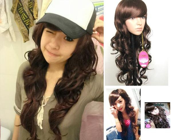 Long WAVE Cosplay Everyday Full Wigs With 1Cap WL31