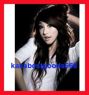 Woman Lady New Fashion Dark Brown long wave Wigs with wig cap WL44